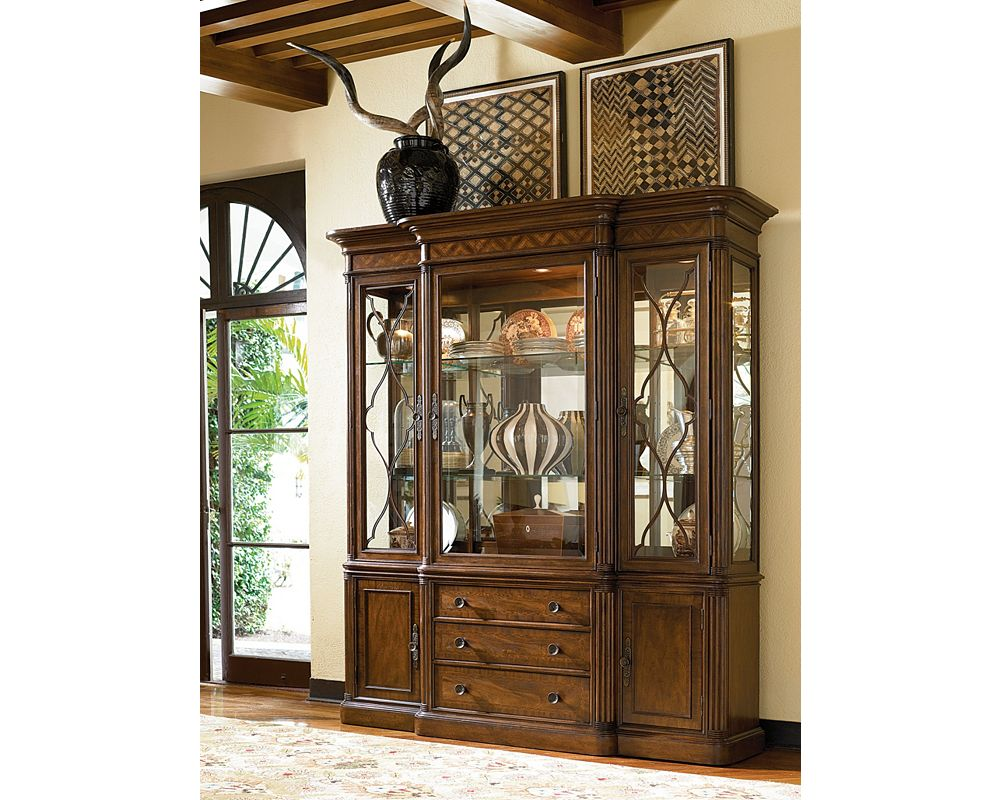 Green hills china cabinet dining room furniture for Thomasville cabinets