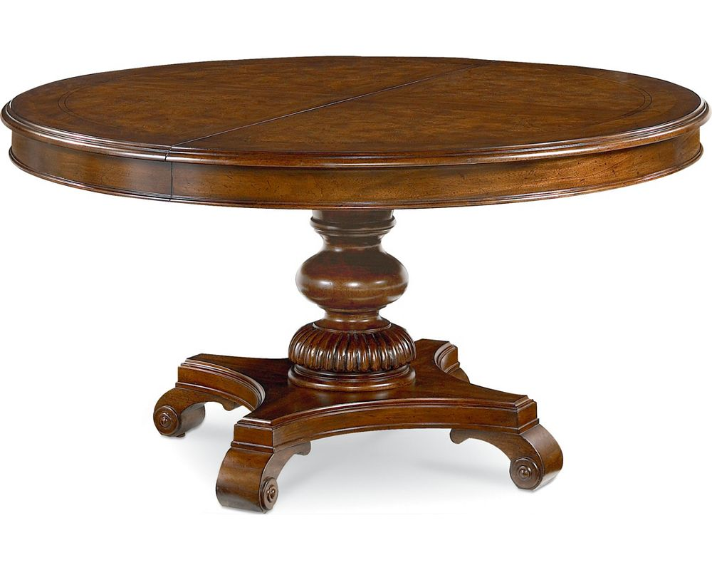 Rift valley round dining table dining room furniture for Dining room tables thomasville