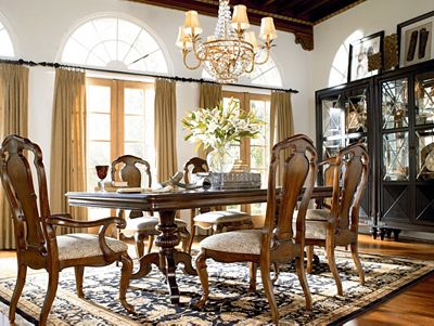 castillian double pedestal table | dining room furniture