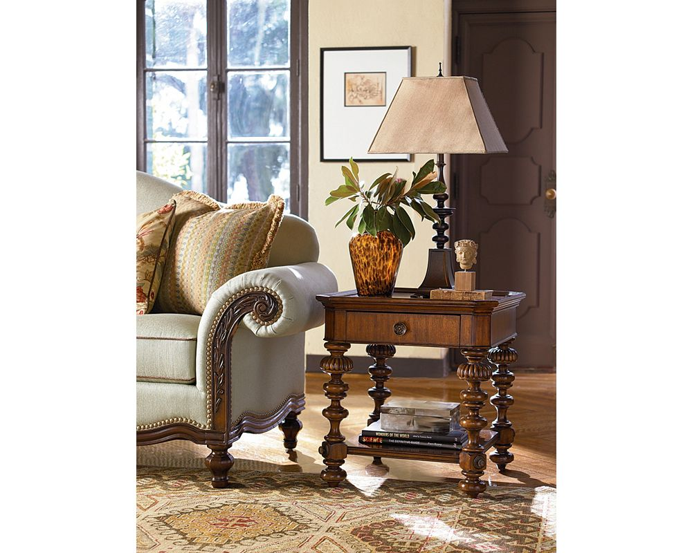 Thomasville Living Room Furniture Ernest Hemingwayar Basque End Table Thomasville Furniture