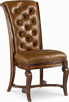 leather side chair dining room furniture thomasville thomasville dining room side chair 40421 821 hickory
