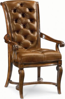 Amazing Deschanel Leather Arm Chair