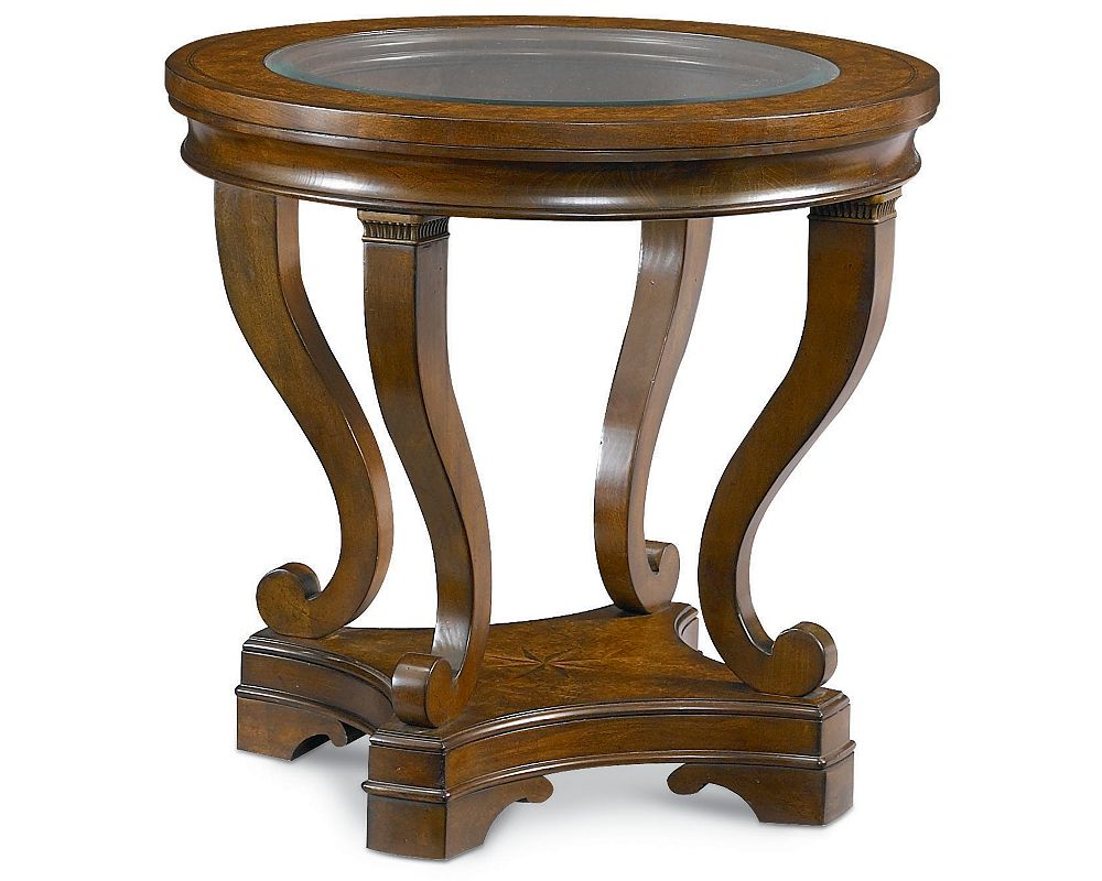 Deschanel Round Lamp Table