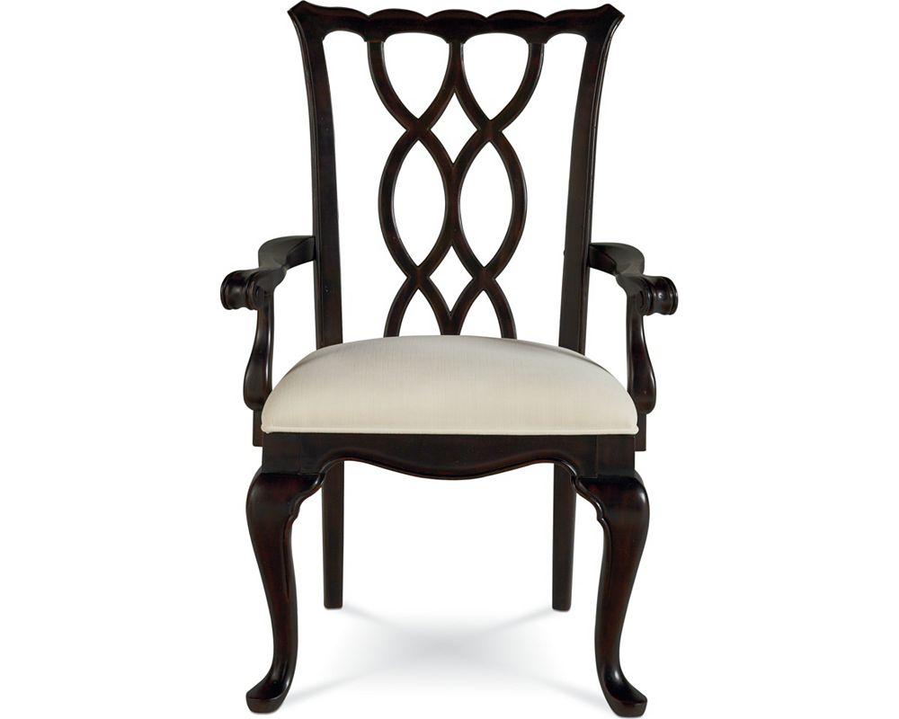 Tate street arm chair black cherry thomasville furniture