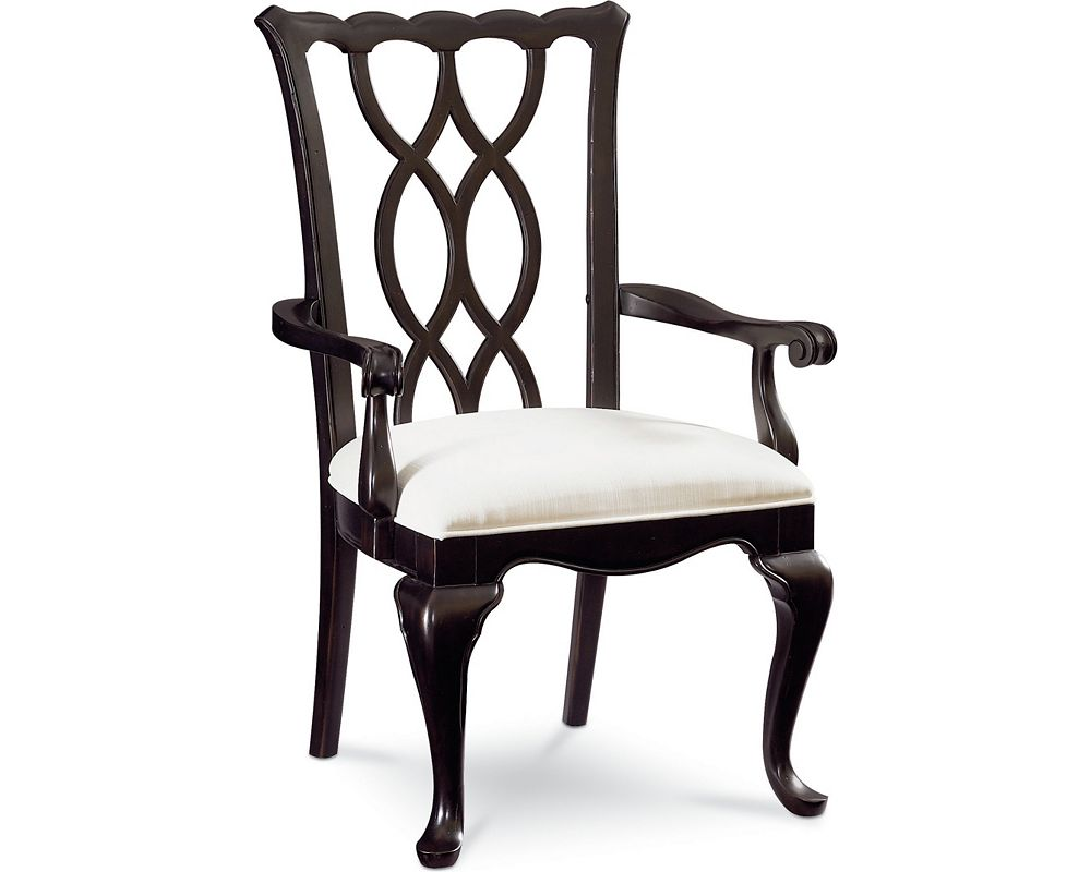 Tate Street Arm Chair (Black Cherry)