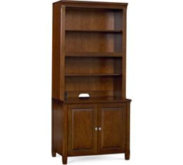 Workstyles Open Bookcase Hutch (Only) (Cognac)