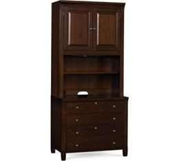 Workstyles Door Bookcase Hutch (Only) (Mocha)