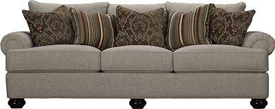 Portofino 3 Seat Sofa (Panel Arm, Bun Foot)