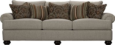 Portofino 3 Seat Sofa (Panel Arm, Bun Foot)