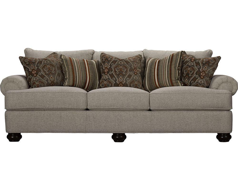 Portofino Large Sofa Panel Arm Bun Foot