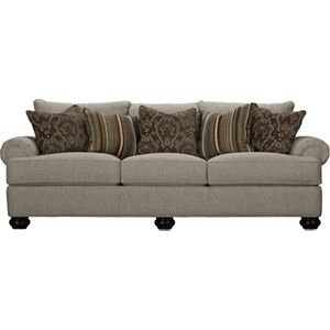 Portofino Large Sofa (Panel Arm, Bun Foot)