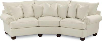 Portofino Wedge Sofa (Panel Arm, Bun Foot)