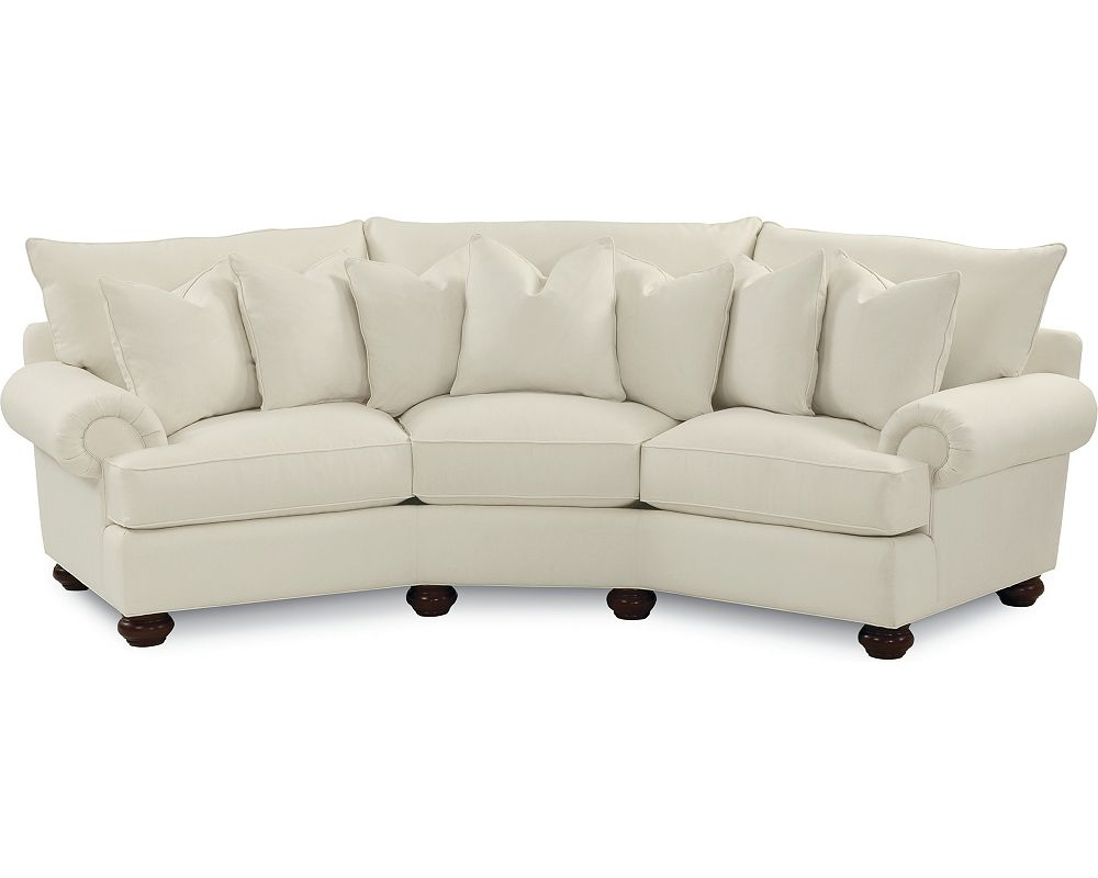 Portofino Wedge Sofa (Panel Arm, Bun Foot)