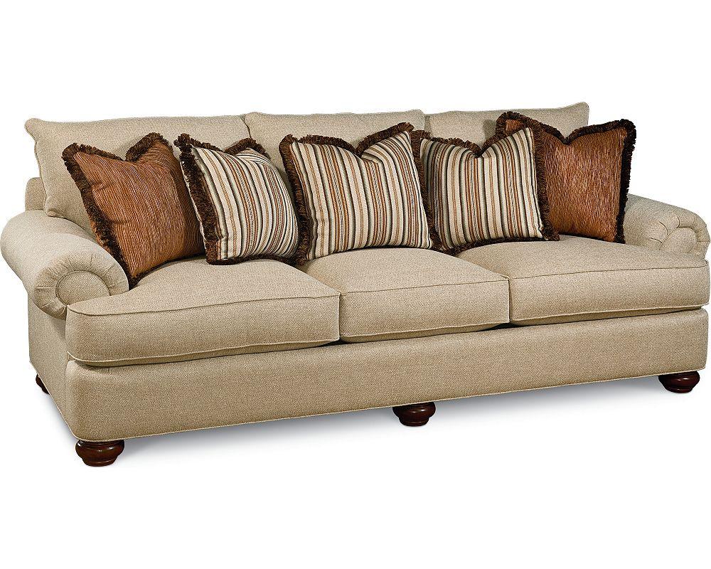 Portofino Large Sofa Panel Arm Bun Foot Thomasville