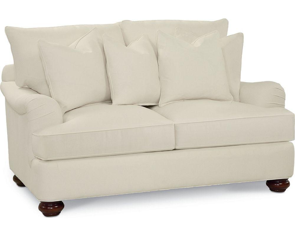 Portofino Loveseat English Arm Bun Foot Thomasville Furniture