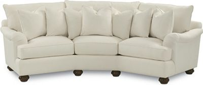 Portofino Wedge Sofa (English Arm, Bun Foot)