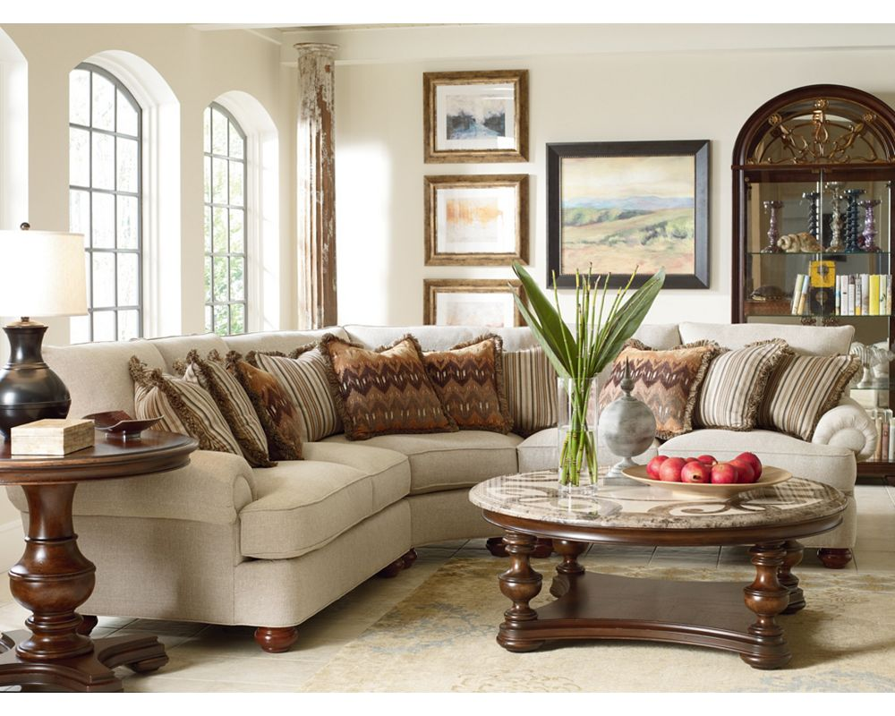 Portofino Sectional English Arm Bun Foot Thomasville