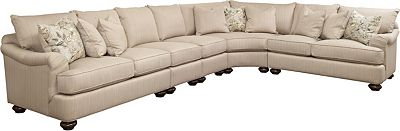 Portofino Sectional (English Arm, Bun Foot)