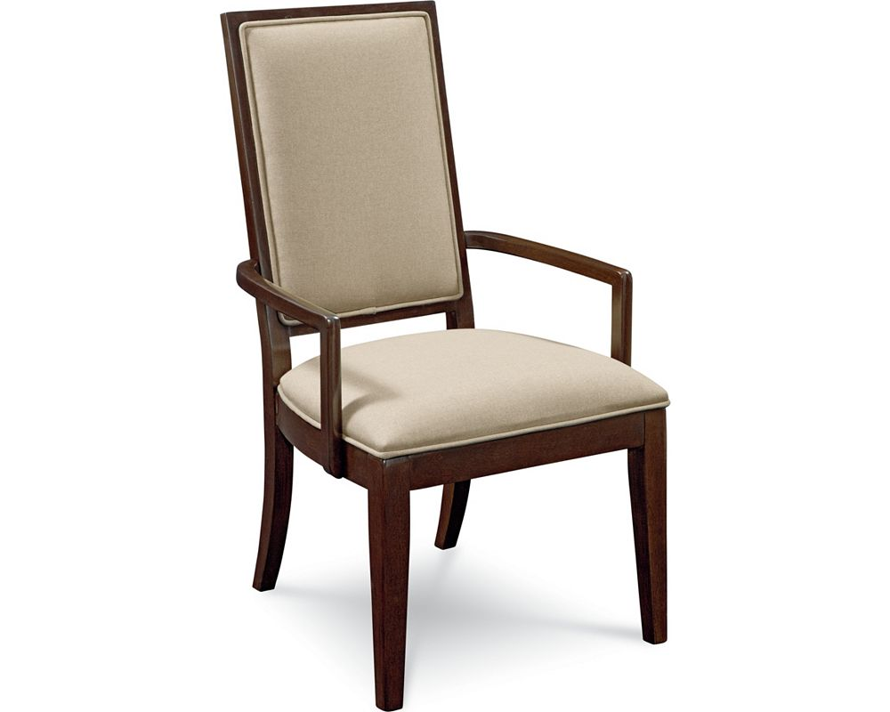 Upholstered arm chair dining room furniture thomasville furniture - Dining room chairs used ...