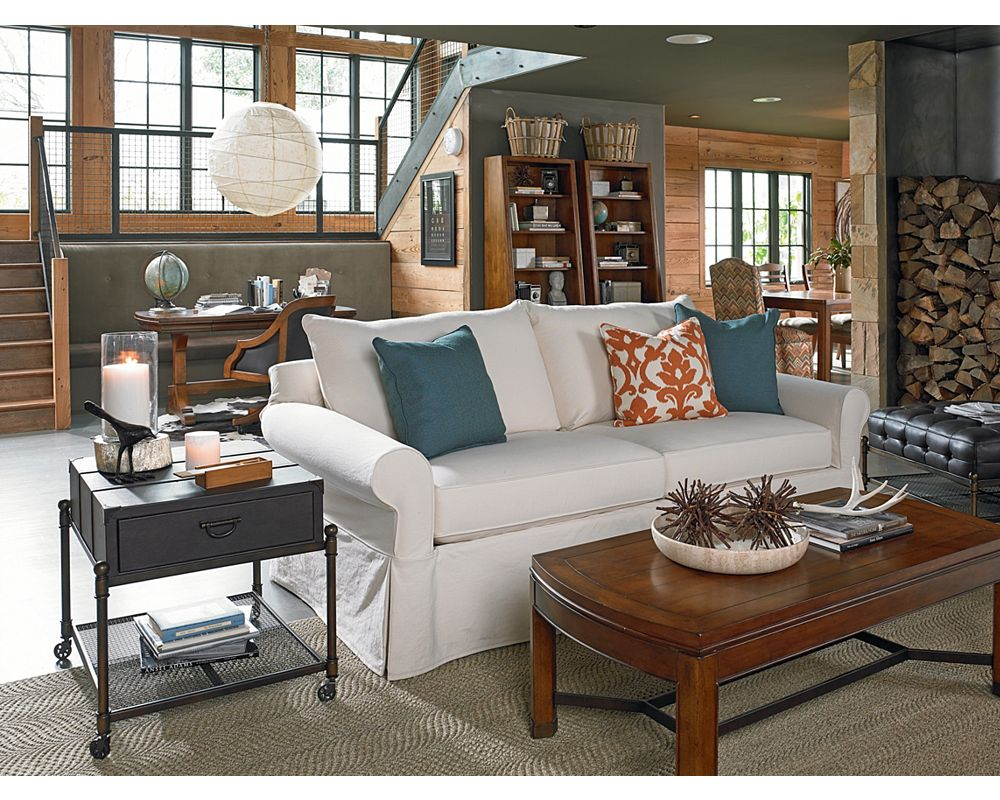 concord slipcover sofa living room furniture thomasville furniture - Thomasville Living Room Sets