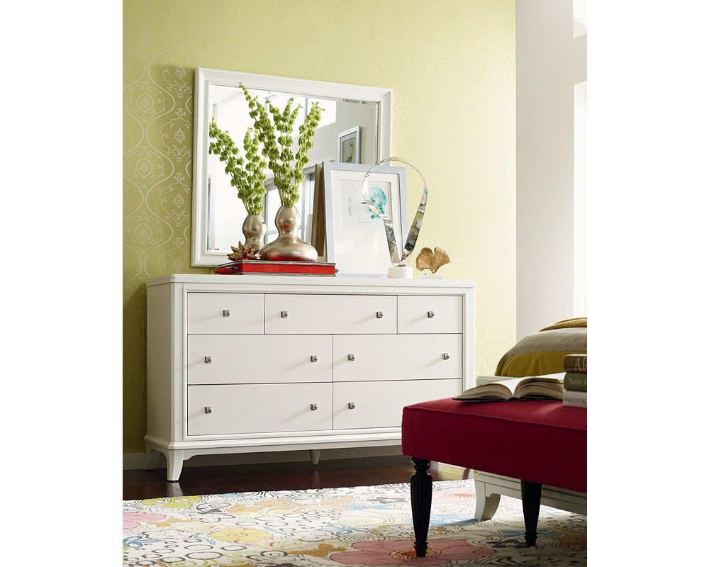 Manuscript mirror thomasville furniture for Thomasville white bedroom furniture