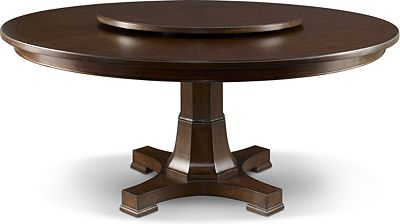 Round Dining Table For 6 With Lazy Susan dining tables | wood dining tables | thomasville furniture