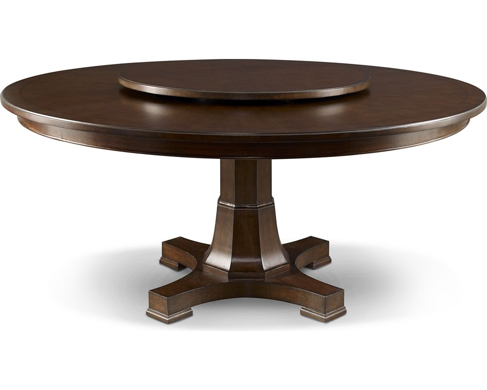 Hanamint bella 60 inch round dining table with inlaid lazy susan shown in desert bronze finish Ashley home furniture adelaide
