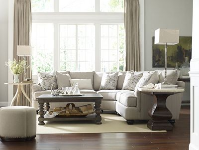 portofino sectional (english arm, bun foot) | thomasville furniture