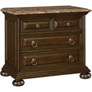 Ernest Hemingway® Castillo Night Stand (Marble Top) (Maduro)
