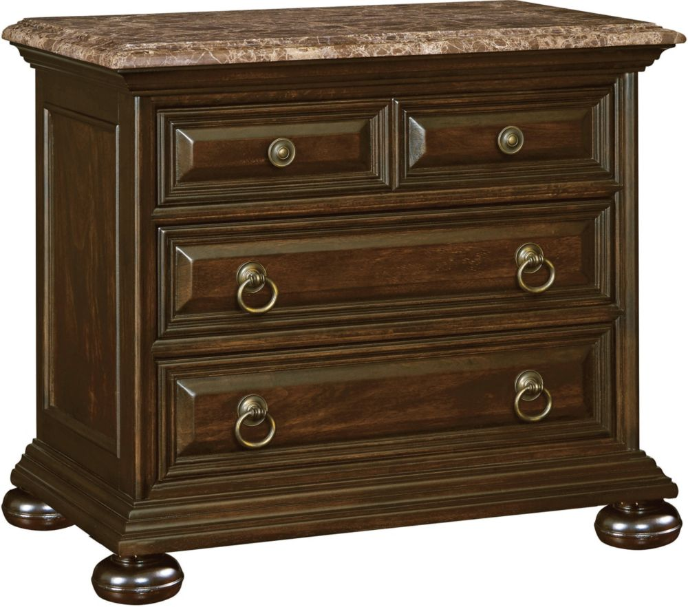 Faux Marble Top Nightstands