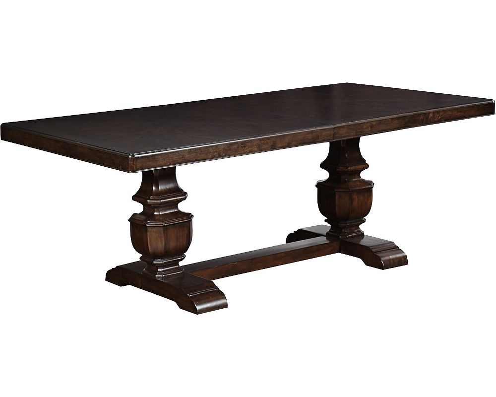 Ernest hemingway paladar double trestle dining table maduro dining tables dining room Trestle dining table