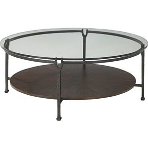 Ernest Hemingway® Clarity Round Cocktail Table (Maduro)