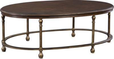 Metal Accent Oval Cocktail Table