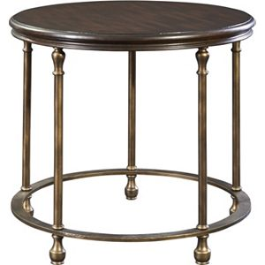 Metal Accent Round Lamp Table