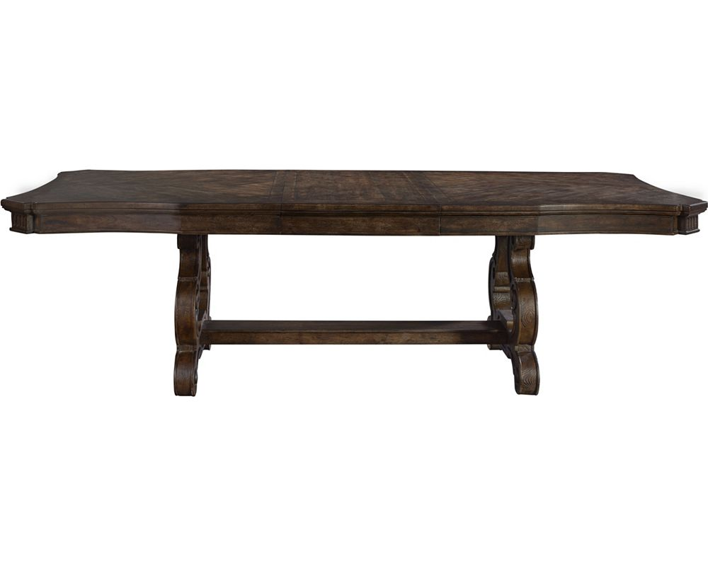 Tables rustic solid wood trestle pedestal base harvest dining table - Stella Trestle Dining Table