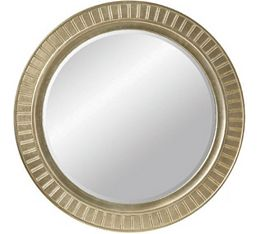 Scandia Evelyn's Round Mirror (Gold Leaf)