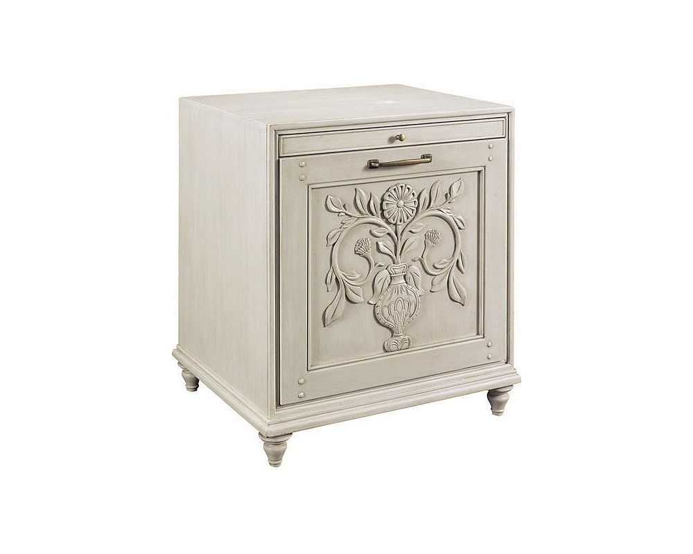 Scandia Rose & Thistle Charging Table (Aged Linen)