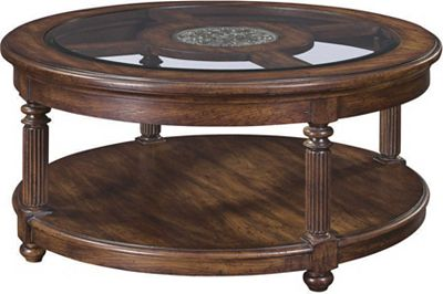 Britain Shilling Round Cocktail Table Thomasville Furniture