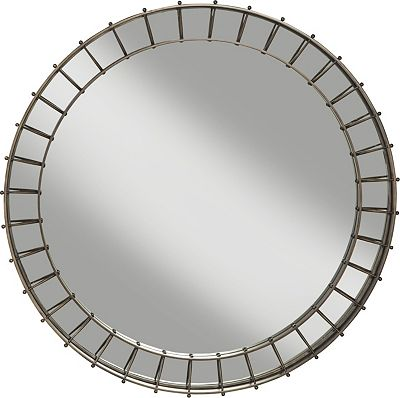 ED Ellen DeGeneres Hazen Round Metal Mirror Crafted by Thomasville