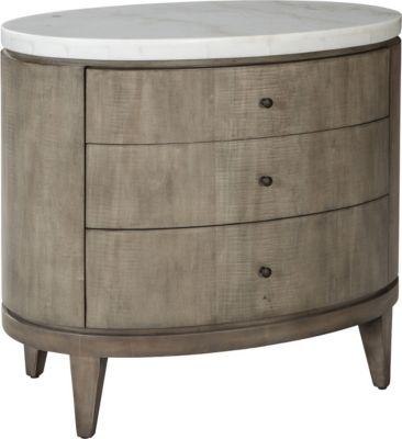 ED Ellen DeGeneres Broussard Night Stand With Stone Top Crafted By  Thomasville
