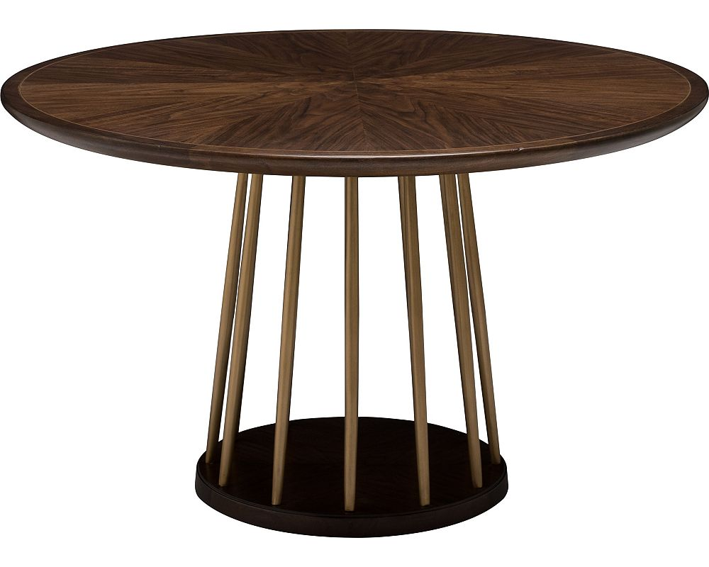 Ed ellen degeneres lafitte round dining table for Circular dining table