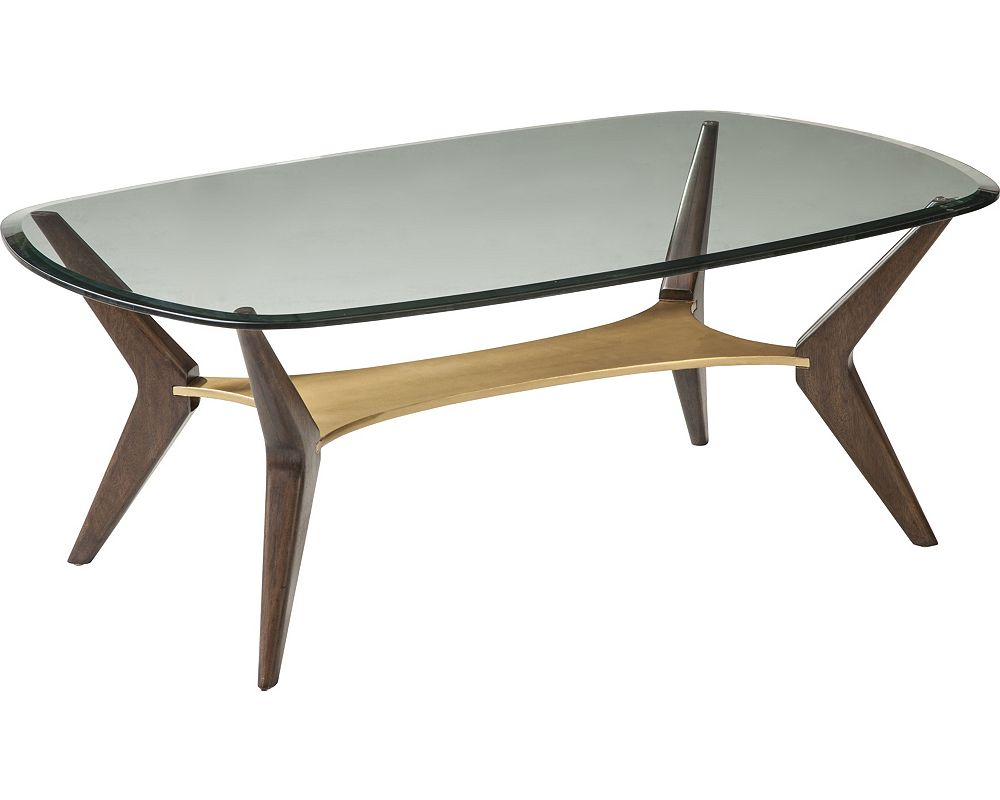 ED Ellen DeGeneres Aldena Glass Top Cocktail Table Crafted by Thomasville