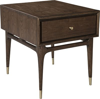 ED Ellen DeGeneres Bronson Rectangular Drawer End Table Crafted by Thomasville