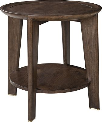 ED Ellen DeGeneres Feret Round End Table Crafted by Thomasville
