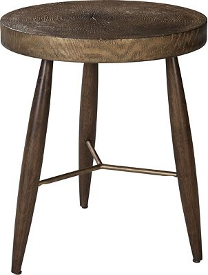ED Ellen DeGeneres La Brea Resin Top Drink Table Crafted by Thomasville