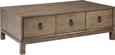 ED Ellen DeGeneres Farnham Drawer Cocktail Table Crafted by Thomasville