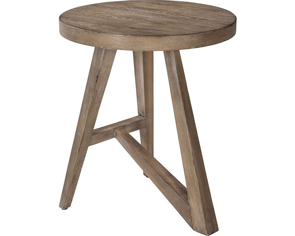 ED Ellen DeGeneres Bucktown Round Accent Table Crafted by Thomasville