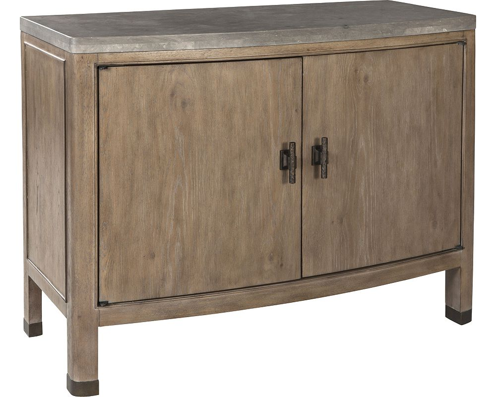 ED Ellen DeGeneres Loma Vista Stone Top Door Chest Crafted by Thomasville