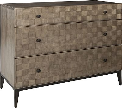 ED Ellen DeGeneres Crescenta Basketweave Hall Chest Crafted by Thomasville