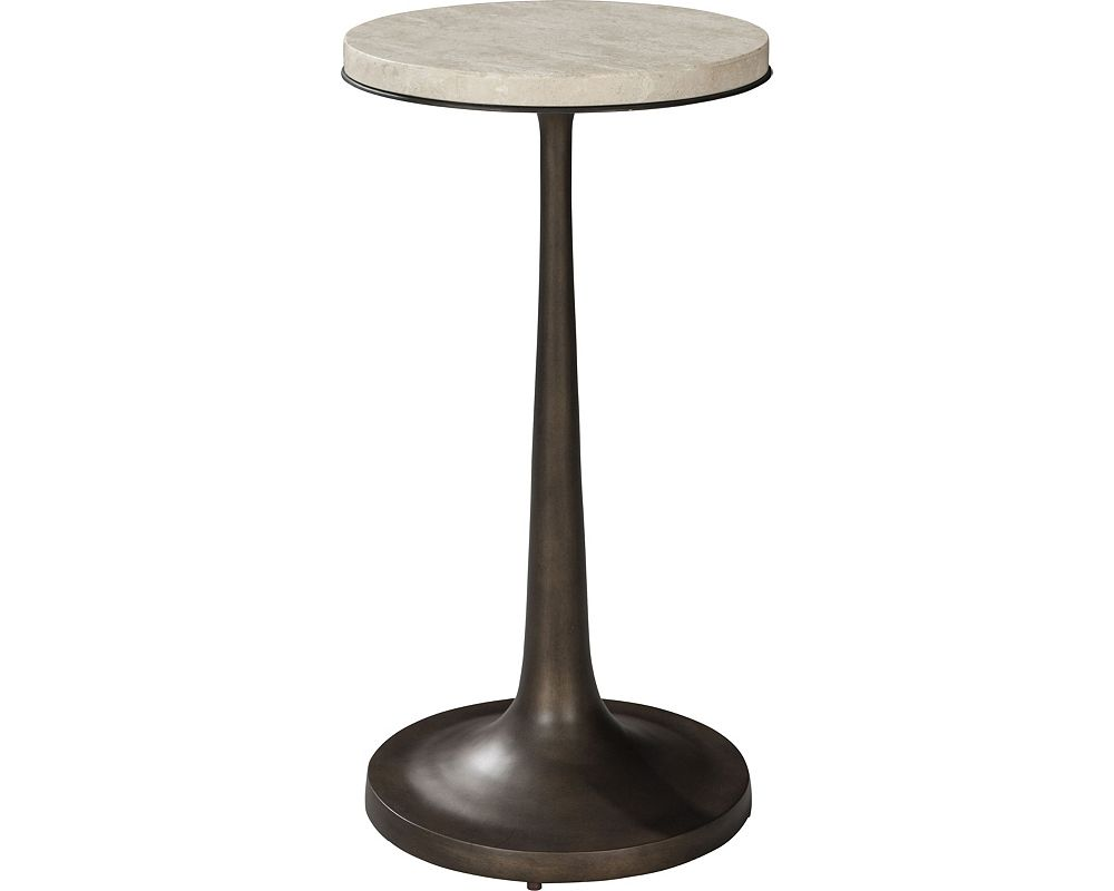 ED Ellen DeGeneres Gentilly Metal and Stone Spot Table Crafted by Thomasville